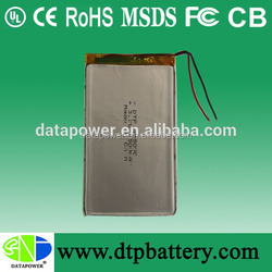 DTP305090 high quality polymer li-ion battery 3.7v 1500mAh