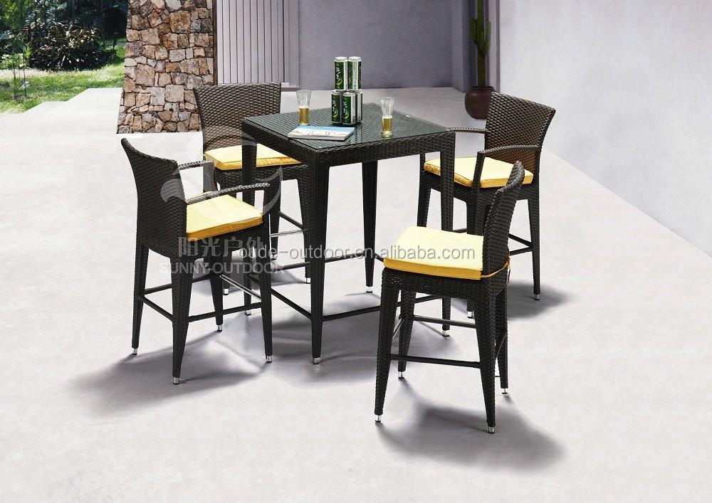 Cheap Outdoor Bar Sets High Leg Rattan Bar Chair Barstool Buy Cheap Outdoor