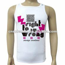 fashion color high quality mens designer tank top