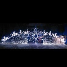 outdoor ornament /christmas hanging snowflake motif LED light