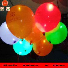 2015 new products advertising toy LED glowing Latex balloons for party city