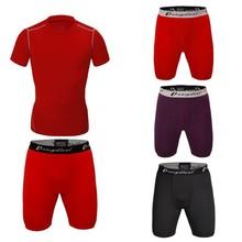 mens lycra spandex thermal compression jogging underwear suit