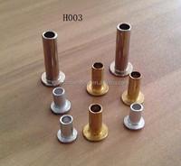 Hollow aluminium gold rivets,hardware fitting
