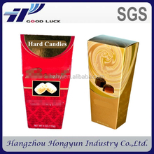 popular cardboard candy box wholesale/ customized empty sweet box packaging
