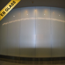 ultra clear tempered smart glass switch on transparent switch off opaque EB GLASS BRAND