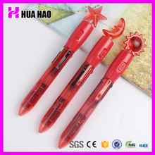 Best quality 4 color ball pen with highlighter