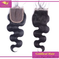 Alibaba china free parting middle parting three part lace closure with wholesale brazilian hair weave bundles