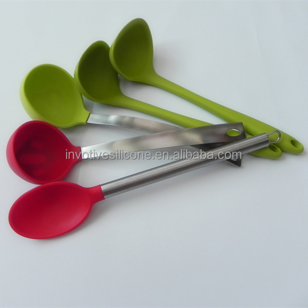 Hot selling DISNEY audit factory Eco-friendly colorful silicone kitchen utensils