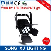 plastic housing super led 4in1 mini power par can stage light mixer for dj club disco used