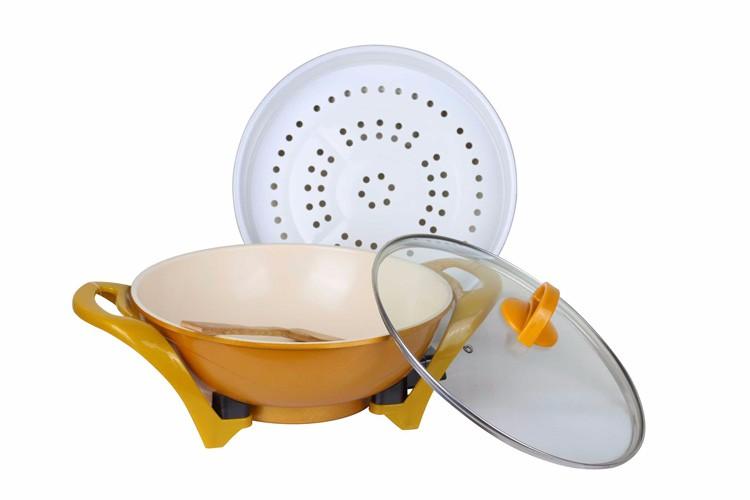 Multi Function Kitchenware Ceramic Ingot Electric Pan With