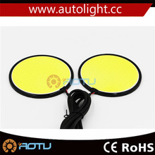 Easy Installation 12v Round LED Car Daytime Running Light For Car Lighting