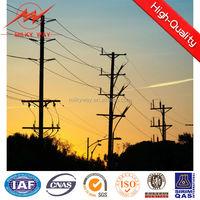 galvanized electric pylon utility steel transmission pole