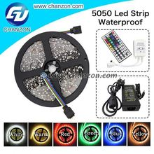 Top Factory 5050 IP65 5m 12V Waterproof RGB Tape led Strip led color strip