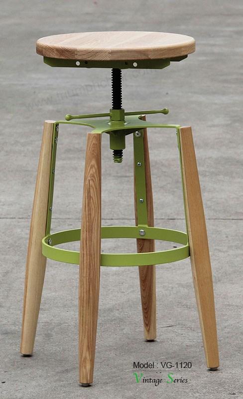 Triumph vintage wooden bar stools modern design