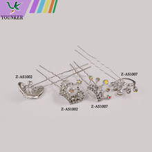 2015 Wholesale fashion rhinestone charm bridal wedding hairpins