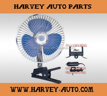 "8"" Inch 12/24V volt Car Fan Electrical Fans For Cars With clip/Auto Fan, Oscillating Fan, DC Small Clip Fan Factory"