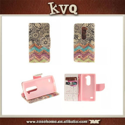 Factory Wholesale PU leather wallet card stand cover phone cases magnetic flip case for LG G4 Stylus