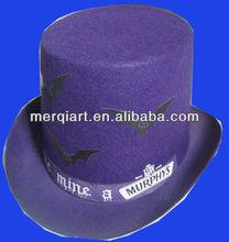 Hot selling purple felt halloween hat