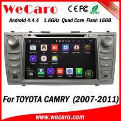 """Wecaro Android 4.4.4 car multimedia system 2 din 8"""" for toyota camry car dvd gps navigation 6GB Flash A9 cpu 2007 - 2011"""
