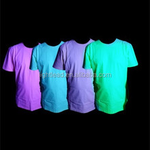 full cotton wholesale glow in the dark t shirts