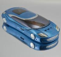 Quad band dual sim flip Sport car shape mobile phone W8 black white red pink many colors