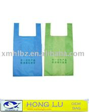 T-shirt bag with degradable good for environment
