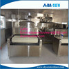 Industrial continuous conveyor belt type microwave lemongrass drying machine