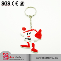 Fashional Wholesale custom pvc keychain/key chain