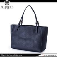 Wishche Women's Genuine Leather Tote Bag Lady Handbags Vintage Handbags Factory Wholesale Women Shoulder Bags No Minimum W0064