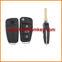 High quality remote key cover fob shell blank case with battery base and logo for Audi A1 remote key blank fob cover shell