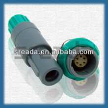 sreada plastic circle 1P 6 Pins auto connector FGG.1P.306