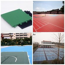 Custom PP basketball court floor tiles