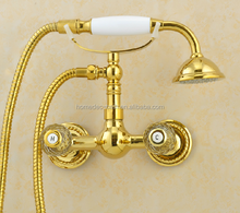 Telephone hand shower Gold Bath Shower Faucet