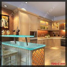 Dignity fusion glass kitchen countertop with sink