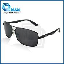Top Quality Metal Sunglasses With PC Legs Aviator Titanium Sunglasse