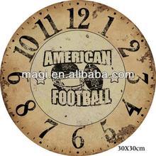 Antique rustic wall decorative wooden clock