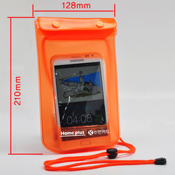 classical fluorescent orange colours camera mobile phone cellphone PVC waterproof bag