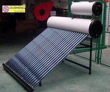 compact non-pressuried solar water heater vacuum insulation panels