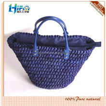 Qingdao HIFA 2015 Cheap fashion candy color ladies corn husk straw bags fashion new style shopping bags