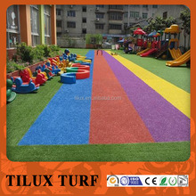 Colorful Rainbow Synthetic Grass Running Track for Kindergarten School
