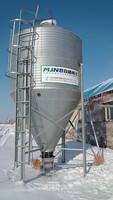 galvanizing hopper bottomed steel silo