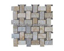 china supplier cheap strip culture stone mosaic for wall,floor,garden