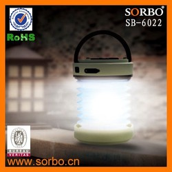 SORBO Hot Selling Outdoor Rechargeable LED Emergency Light for Camping with Mobile Phone Charger China Supplier