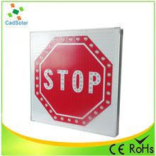 Led de alumínio de tráfego vermelho solar da estrada sinal de parada