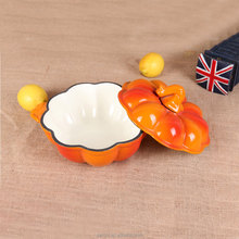 house hold and restaurant pumkin shape Mussel Pot