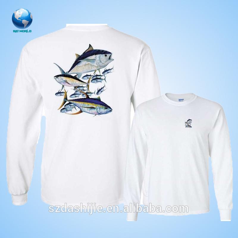 2015 long sleeve custom oversized fishing shirts with for Custom fishing shirts