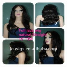 High density indian remy hair hair , lace wig