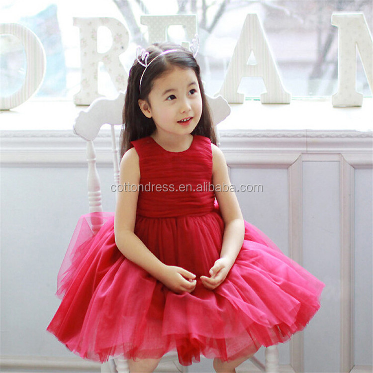 Factory Direct Sale Party Girls Fancy Party Dress Simple Design Gown ...