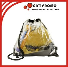 Promotional Gift PVC Clear Drawstring Bag