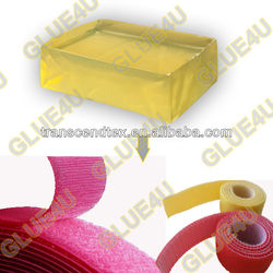 2015 hot melt adhesive for velcro hook loop tape for shoes clothes